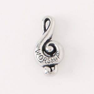 Pewter Lapel Pin - Music Clef