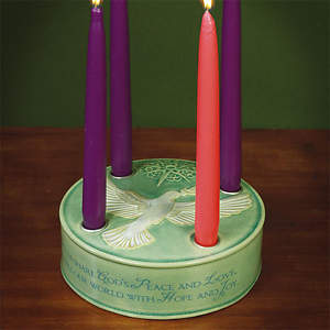 Dove Advent Wreath W/Candles