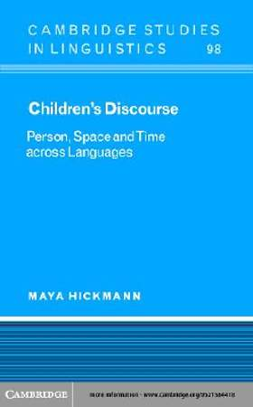Children's Discourse [Adobe Ebook]