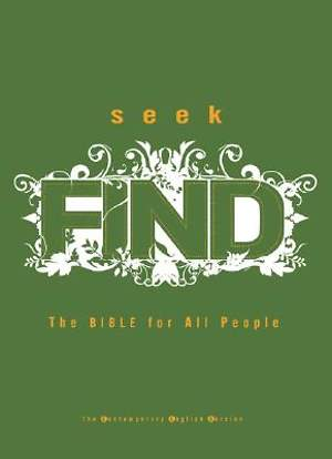 Seek Find Contemporary English Version Bible Large Print