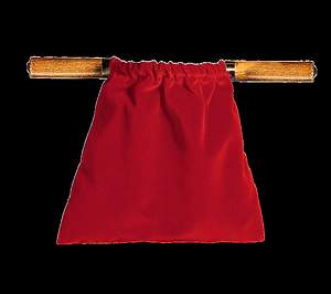 Large Two Handled Offering Bag Brass - Red