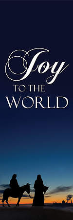Nativity Series Joy to the World Banner 18