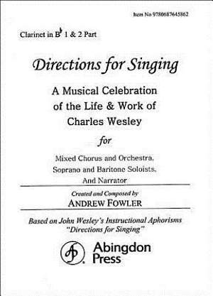 Directions for Singing - Clarinet 1 & 2