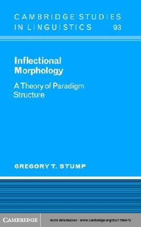 Inflectional Morphology [Adobe Ebook]