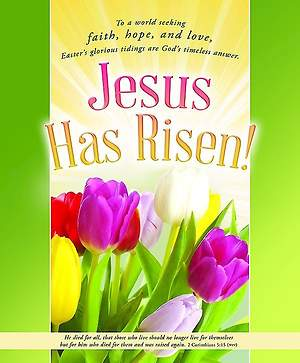 Easter Bulletin - Jesus Has Risen!, Legal - 2 Corinthians 5:15 (Pkg 100)