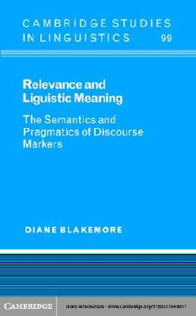Relevance and Linguistic Meaning [Adobe Ebook]