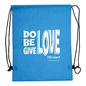 Standard VBS 2015 Blast to the Past Drawstring Backpack (Do Be Give LOVE)