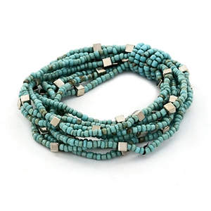 Java Wrapped in Beads Bracelet - Turquoise