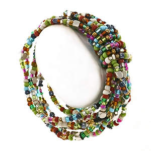 Java Wrapped in Beads Bracelet - Multi-color