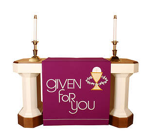 Vision Series Purple Altar Antependia with Given for You with Chalice