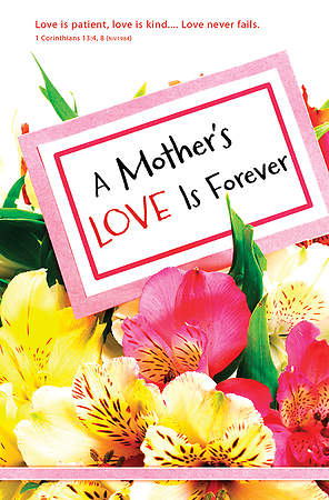 A Mother's Love Mother's Day Regular Size Bulletin, Package of 100