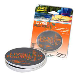 Car Coasters (Set of 2): Living on Purpose