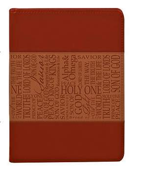 Tan Names of Jesus Luxleather Journal