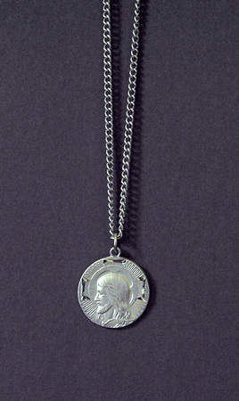 Head of Christ Medal in Silver Finish (#361)