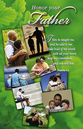 Father`s Day Bulletin Snapshots Proverbs 4:4 Regular (Package of 100)