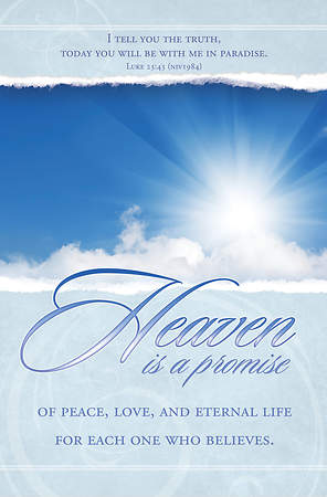 Funeral Bulletin Heaven is a Promise Regular (Package of 100)
