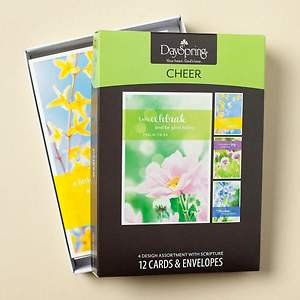 Cheerful Flowers - Cheer Boxed Cards - Box of 12
