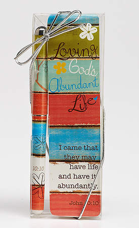 Loving God's Abundant Life Pen & Bookmark Set, Pack of 3