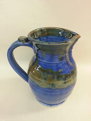 Earthenware Flagon, Dark Blue