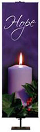Photo Series Hope Purple Advent Banner 2 'x 6'