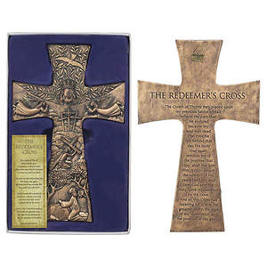 "The Redeemer`s 11 3/8""  Resin Wall Cross"