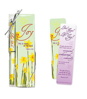Joy He Is Risen Pen & Bookmark Set, Pack of 3
