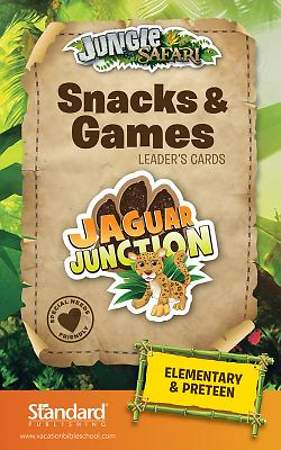 Standard VBS 2014 Jungle Safari Snacks & Games Leaders Cards-Elem/PreTeen