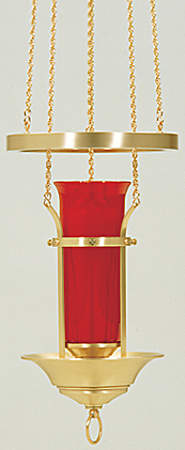 Polished Brass Hanging Sanctuary Lamp