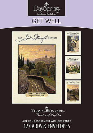 Thomas Kinkade - Get Well Boxed Cards - Box of 12