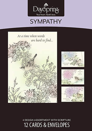 Under His Wings - Sympathy Boxed Cards - Box of 12