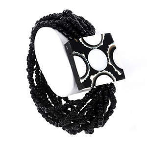 Java Wrapped in Beads Bracelet - Black