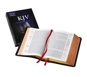 KJV Single Column Black Goatskin Reference Kj486