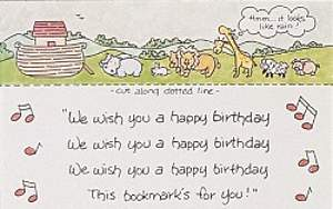 Noah's Ark Birthday Postcard Package of 25