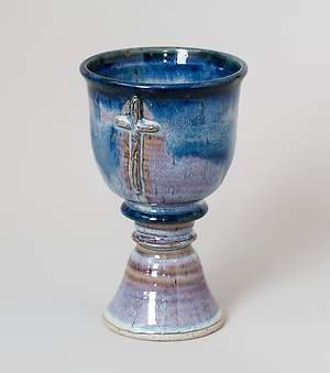 Old Rugged Cross Earthenware Chalice