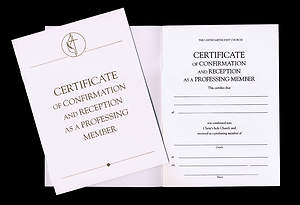 United Methodist Covenant I  Confirmation and Reception Certificate (Package of 3)