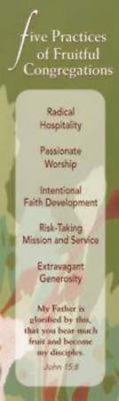 Five Practices of Fruitful Congregations Bookmark (Package of 25)