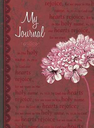FLORAL (RED) LARGE HC JOURNAL