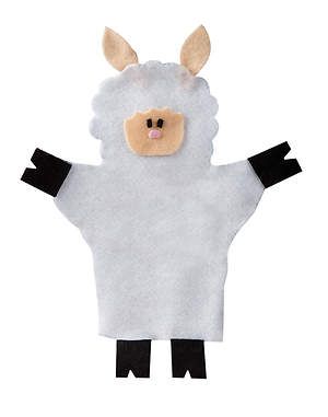 Bethlehem Bound - Shepherd`s Sheep Puppets (10 Pack)