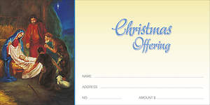 Christmas Traditional Nativity Offering Envelope (Package of 100)