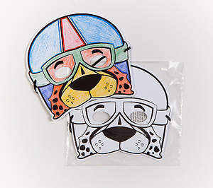 Vacation Bible School (VBS) 2015 G-Force Preschool Checkers Mask (Pkg of 6)