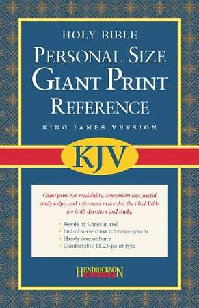 Bible KJV Personal Size Giant Print Reference