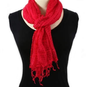 Java Super Soft Cotton Scarf - Coral