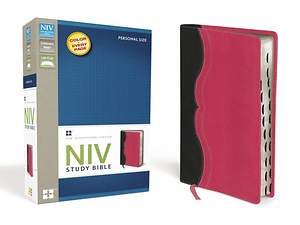 NIV Study Bible, Personal Size Indexed