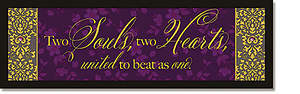 Two Souls, Two Hearts Plaque - Words of Grace