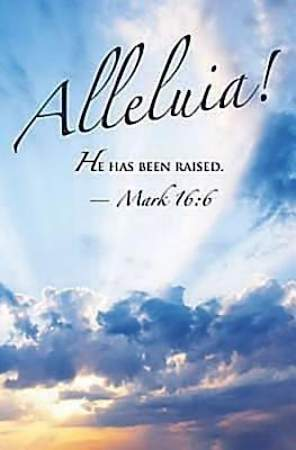 Alleluia! Easter Sunrise Bulletin 2012, Regular Size (Package of 50)