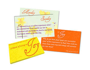Joy He is Risen Scripture Cards, with Card Wallet