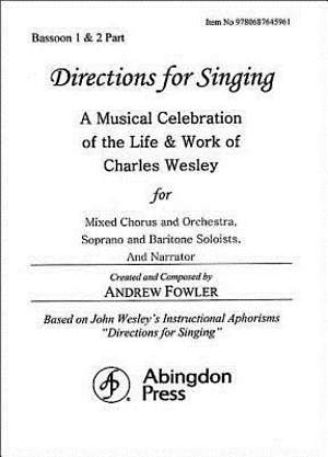 Directions for Singing - Bassoon 1 & 2
