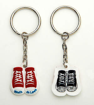 Walk in Love Shoe Shape Keyring