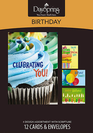 Bright Birthday - Birthday Boxed Cards - Box of 12
