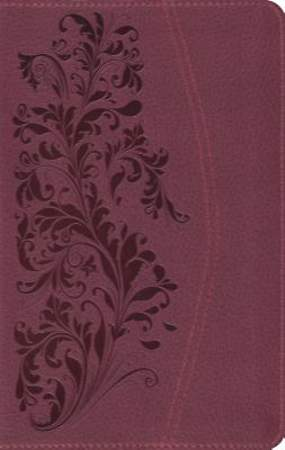 ESV Large Print Compact Bible (Trutone, Ruby, Bloom Design)